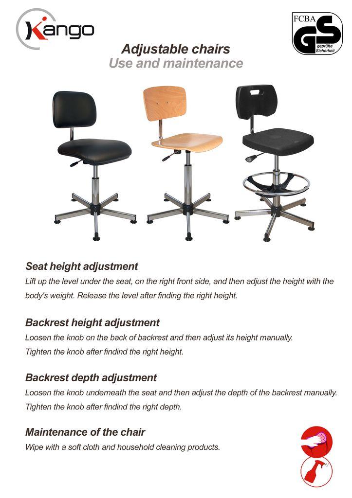 TECHNICAL DOCUMENTS  sc 1 st  Kango & Kango - Adjustable chairs